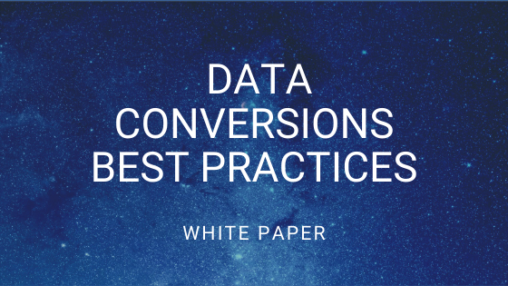 data conversions best practices